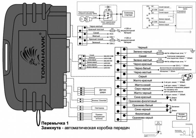 8c35048s 960 3482 - Схема подключения автозапуск томагавк ваз 2112